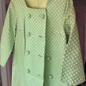 Jackets & Blazers - Vintage chartreuse and yellow coat